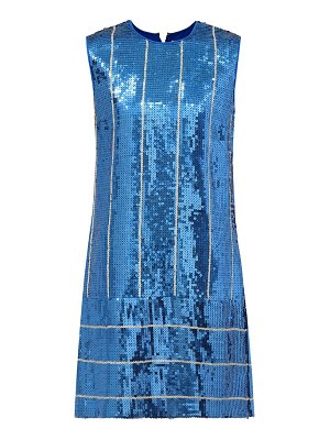 Victoria by Victoria Beckham sequined striped shift dress