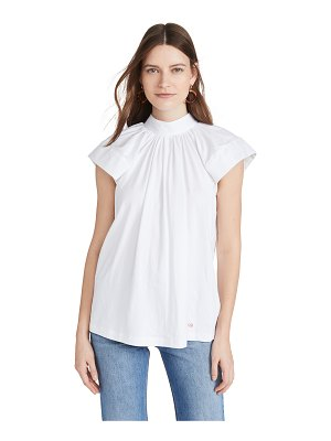 Victoria by Victoria Beckham shirting sleeve tee