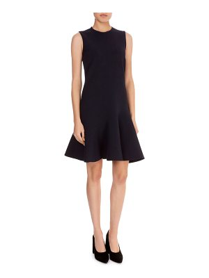 Victoria by Victoria Beckham Sleeveless Fit-and-Flare Crepe Dress
