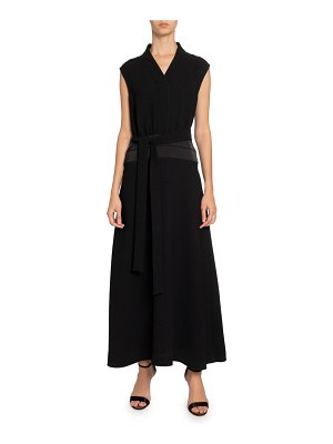 Victoria by Victoria Beckham Sleeveless Long Dress w/ Cummerbund