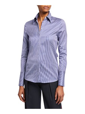 Victoria by Victoria Beckham Striped Bow-Back Shirt