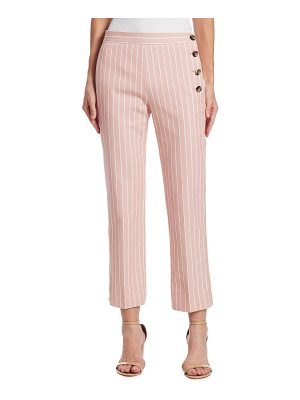 Victoria by Victoria Beckham striped button-side pants