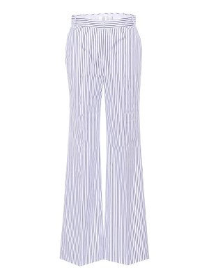 Victoria by Victoria Beckham striped cotton wide-leg trousers