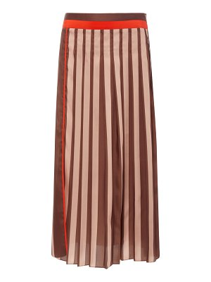 Victoria by Victoria Beckham striped pleated chiffon midi skirt