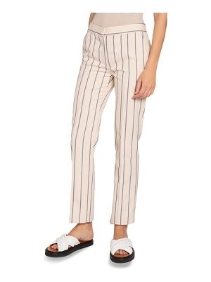 Victoria by Victoria Beckham Striped Slim Trousers