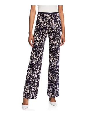Victoria by Victoria Beckham Tapestry Flared Trousers