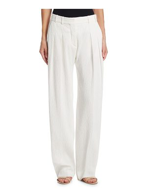 Victoria by Victoria Beckham textured two-pleat pants