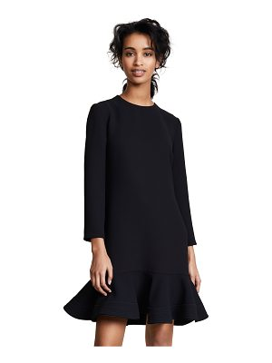 Victoria by Victoria Beckham zigzag stitch hem shift dress