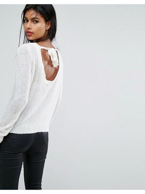 Vila Exclusive Tie Back Knitted Sweater
