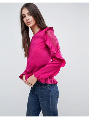Vila Frill Lace Sleeve Top