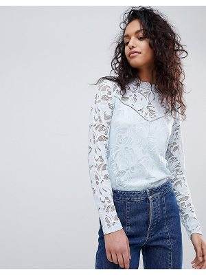 Vila Long Sleeve Lace Top