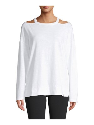 Vimmia Cold-Shoulder Cotton Top