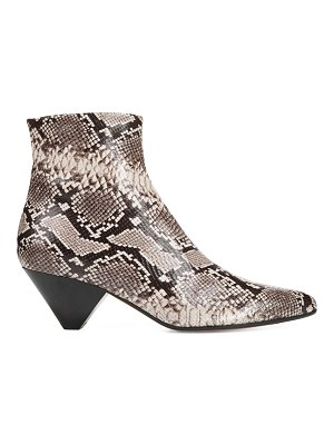 Vince alder snake-embossed leather ankle boots