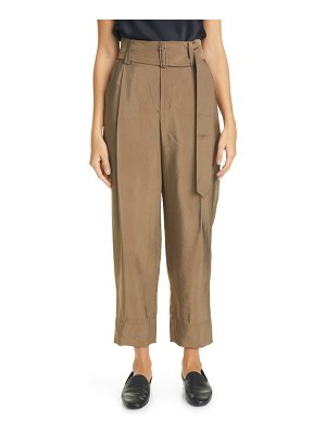 Vince belted high waist tapered pants