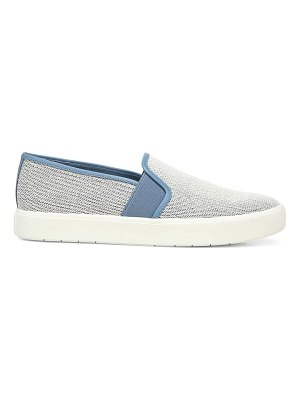Vince blair linen slip-on sneakers