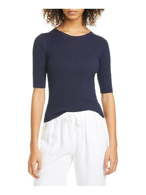 Vince broomstick pleated cotton pullover