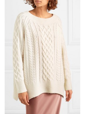 Vince cable knit wool-blend sweater - off-white