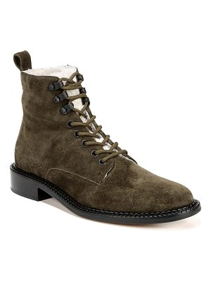Vince cabria 3 genuine shearling lined combat boot