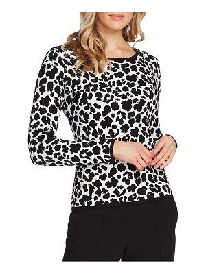 Vince Camuto animal jacquard pullover