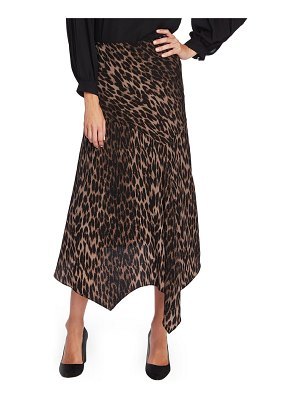 Vince Camuto animal print asymmetrical hem skirt