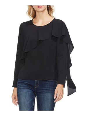 Vince Camuto asymmetrical ruffle front blouse