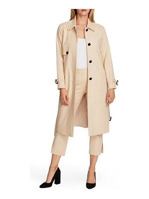 Vince Camuto belted double weave trench coat