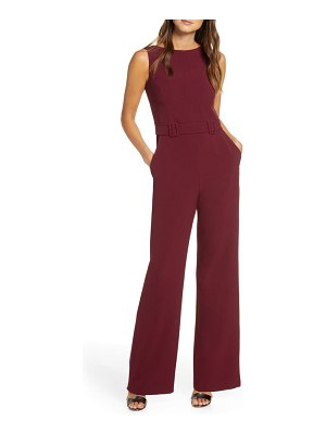 Vince Camuto belted sleeveless stretch crepe jumpsuit