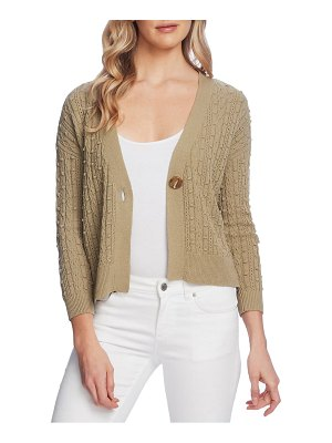 Vince Camuto cable popcorn stitch cardigan