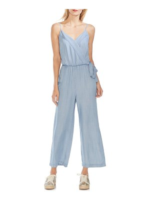 Vince Camuto chambray wrap front jumpsuit