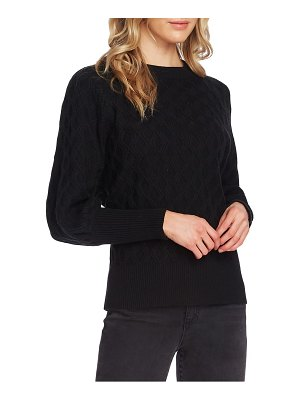 Vince Camuto diamond stitch sweater