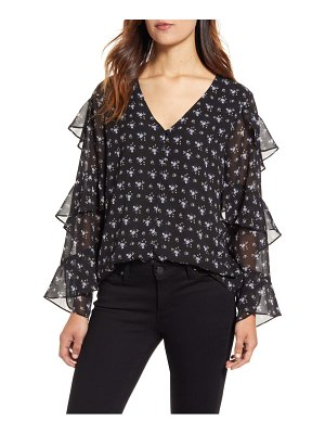 Vince Camuto ditsy bouquet tiered sleeve blouse