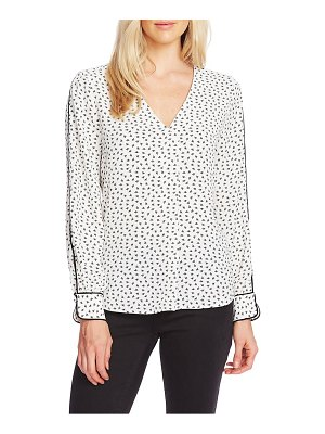 Vince Camuto ditsy zone long sleeve blouse