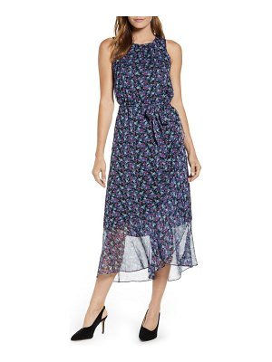 Vince Camuto floral belted chiffon midi dress