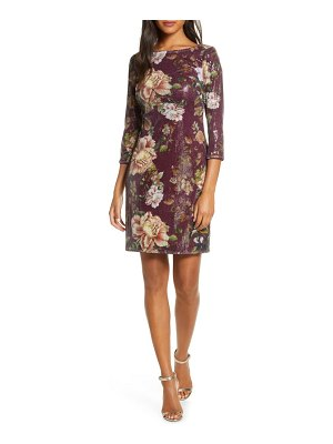 Vince Camuto floral sequin shift dress