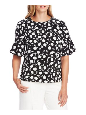 Vince Camuto floral shadow flutter cuff top