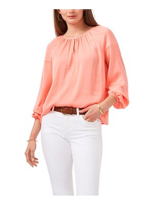 Vince Camuto hammered satin blouse