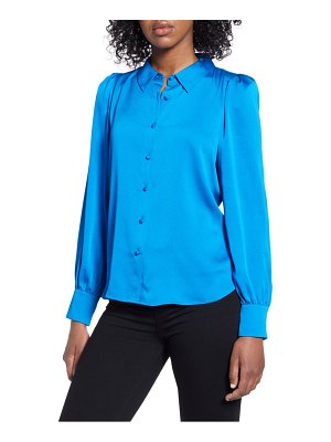 Vince Camuto hammered satin button-up blouse
