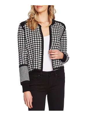Vince Camuto houndstooth cardigan