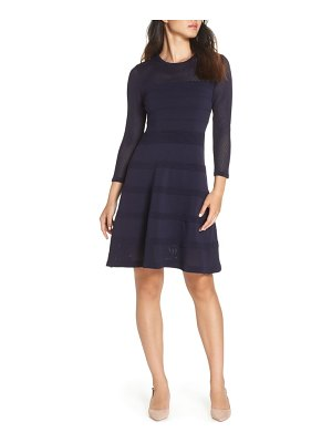 Vince Camuto mix stitch pointelle fit   flare dress 30ae34d08