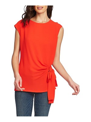 Vince Camuto mixed media side tie top