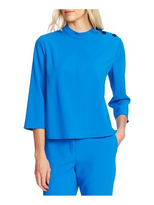 Vince Camuto mock neck textured crepe top