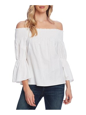 Vince Camuto off the shoulder bell sleeve linen blend blouse