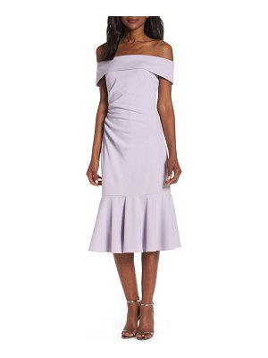 Vince Camuto off the shoulder cocktail dress