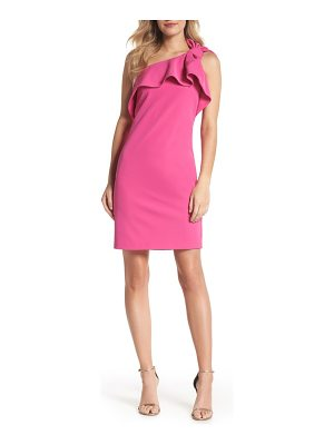 Vince Camuto one shoulder bow sheath dress