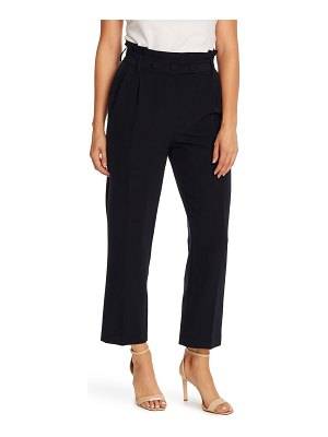 Vince Camuto paperbag waist pleat front trousers