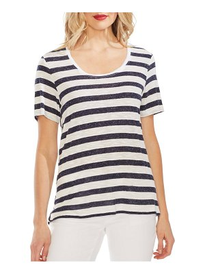 Vince Camuto patchwork stripe top