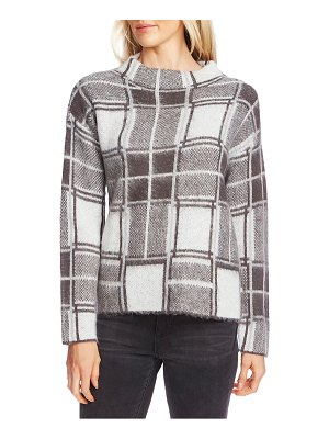 Vince Camuto plaid mock neck sweater