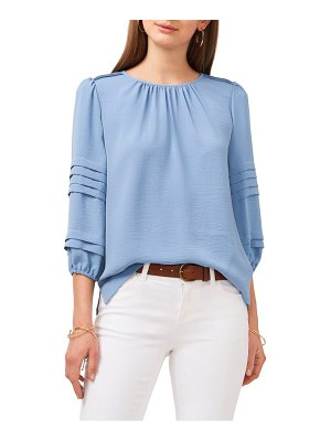 Vince Camuto pleated sleeve gauze blouse