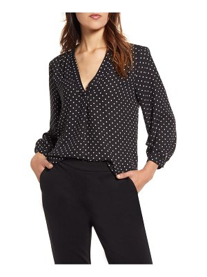 Vince Camuto polka dot v-neck top