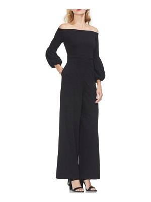 Vince Camuto puff sleeve off the shoulder jumpsuit